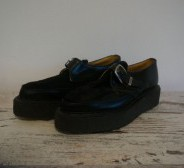 George Cox - Black Leather fur Creeper UK 6 saapad