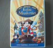 2 DVDd (Kolm musketäri, Tom & Jerry)