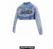 Moschino H&M Cropped sparkly denim jacket, S
