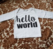 "LittleShineHouse valge ""HelloWorld"" pluus s.60"